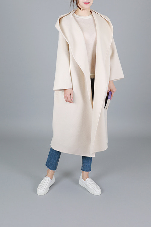 made by Emile] handmade robe coat -뉴트럴아이보리