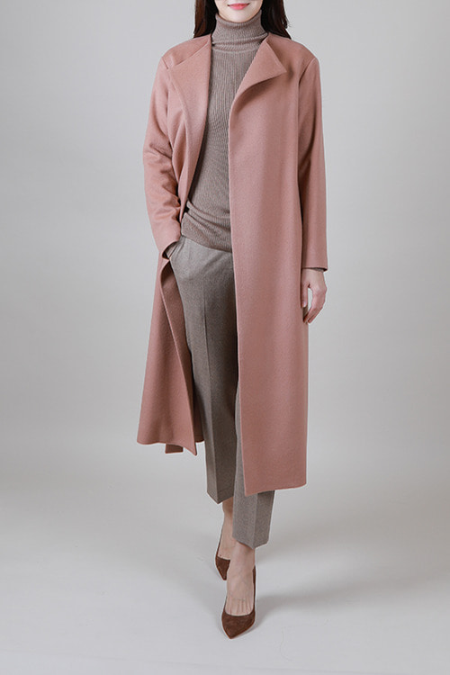 BLACK LABEL] italy cashmere coat [coral pink]