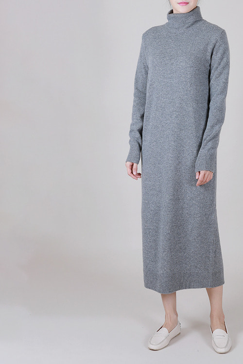 cashmere10 wool90] 터틀롱원피스 -2color