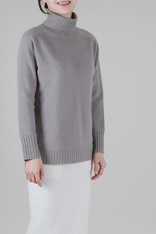 only emile] cashmere100 터틀니트 -4color