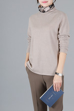 whole garment cashmere100 심플 베이직 니트 -4color