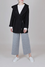 By emile] cashmere hood knit coat [charcoal]